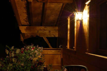 Балкон вечером